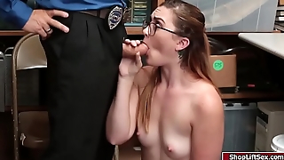 LP office-holder screwed nerdy shoplifter pussy