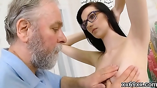 Doctor looks hymen physical added to virgin bird riding