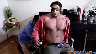 Muscled hunk raw rammed