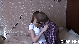 After the gentle oral-job filthy streetwalker receives a passionate sex