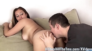 Russian Amateur Spreads Ass to Realize Licked only at AllAnal!
