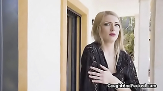 Fantastic blonde forbidden together with cocked in stockings