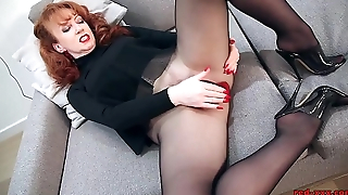 Redhead RED XXX Solo Order In Nylons And Underclothing